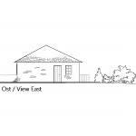 Pre planning view east house Tzakiris for sale in Kazaviti