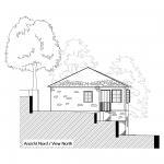 Pre planning view north house Tzakiris for sale in Kazaviti