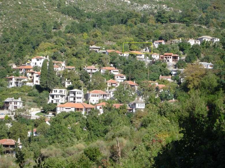 Location of the house Tzakiris in Kazaviti