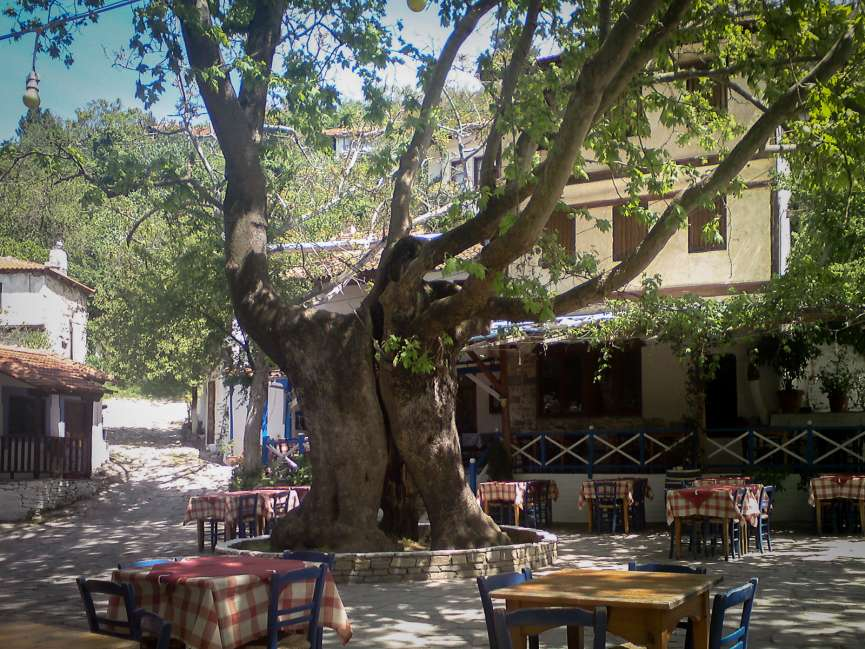 The Platia with Restaurant Andreas
