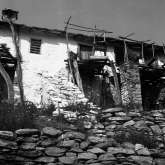 Kazaviti, Thassos island Greece 1973 group of 3 houses. Burned