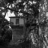 Kazaviti, Thassos island Greece 1973, house Gianeli. Burned