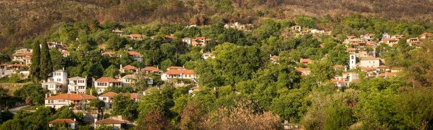Panorame von Kazaviti auf der Westseite der Insel Thassos
